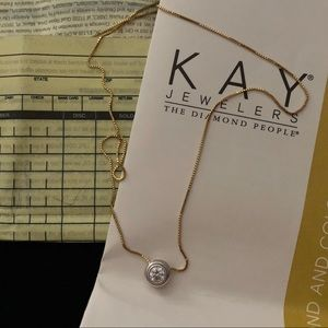Kay Jewelers Jewelry - .9ct Diamond Solitaire Necklace in 14k Gold